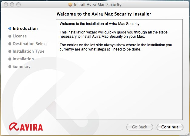 Install Avira Mac Security